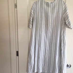ROOLEE sheath linen half sleeve dress